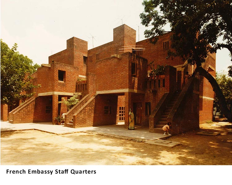 French Embassy Staff Quarters, New Delhi, India